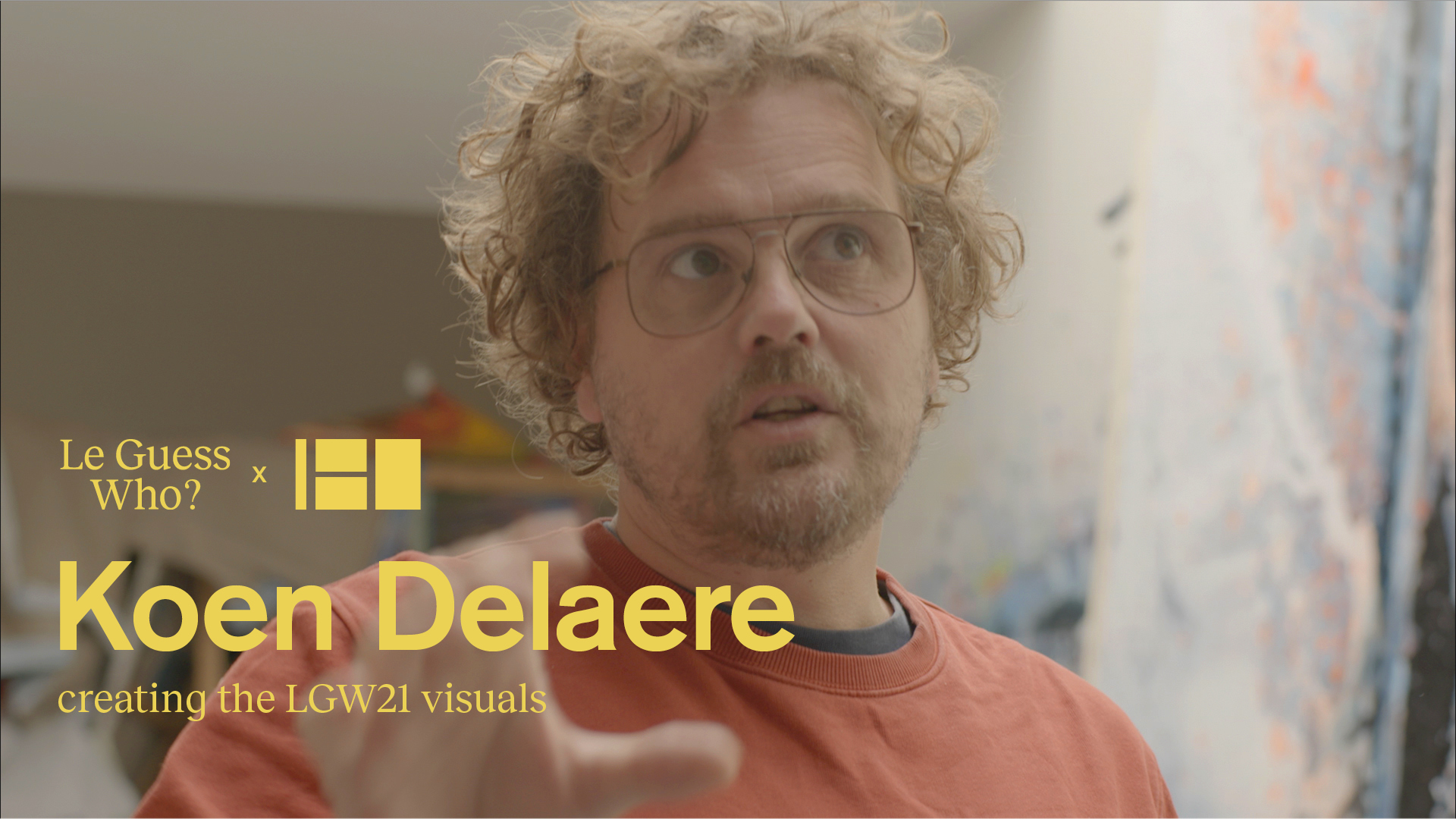 Creating the LGW21 visuals: a video portrait of Koen Delaere by LGW & Canal180